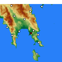 Nearby Forecast Locations - Asopos - Mapa