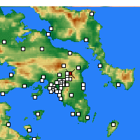 Nearby Forecast Locations - Drosia - Mapa