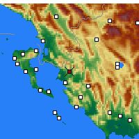 Nearby Forecast Locations - Filiates - Mapa
