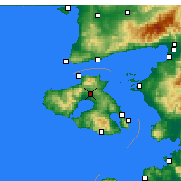 Nearby Forecast Locations - Kalloni - Mapa