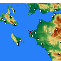 Nearby Forecast Locations - Kastro-Kyllini - Mapa
