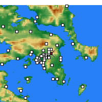 Nearby Forecast Locations - Nea Penteli - Mapa
