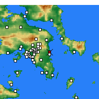 Nearby Forecast Locations - Rafina - Mapa