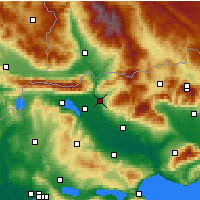 Nearby Forecast Locations - Sidirókastro - Mapa