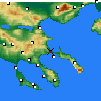 Nearby Forecast Locations - Stagira-Akanthos - Mapa