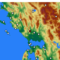 Nearby Forecast Locations - Thesprotiko - Mapa
