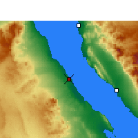 Nearby Forecast Locations - Ras Gharib - Mapa