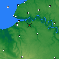 Nearby Forecast Locations - Pont-Audemer - Mapa