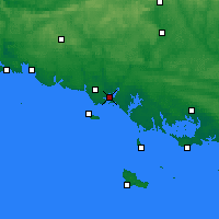 Nearby Forecast Locations - Lorient - Mapa