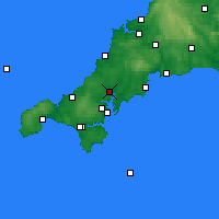 Nearby Forecast Locations - Truro - Mapa