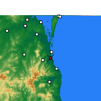 Nearby Forecast Locations - Gold Coast - Mapa