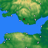 Nearby Forecast Locations - Bridgend - Mapa