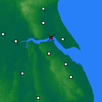 Nearby Forecast Locations - Kingston upon Hull - Mapa