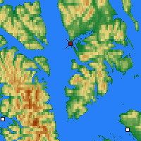 Nearby Forecast Locations - Angoon - Mapa