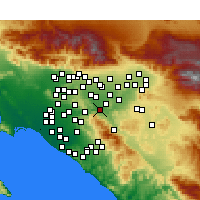 Nearby Forecast Locations - Corona - Mapa