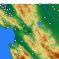 Nearby Forecast Locations - Hollister - Mapa