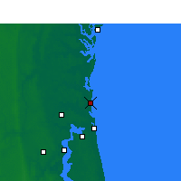 Nearby Forecast Locations - Fernandina Beach - Mapa