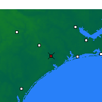 Nearby Forecast Locations - Jacksonville - Mapa