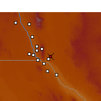Nearby Forecast Locations - Fort Bliss - Mapa