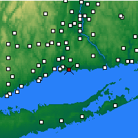Nearby Forecast Locations - Branford - Mapa