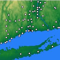 Nearby Forecast Locations - East Haven - Mapa