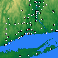Nearby Forecast Locations - North Haven - Mapa