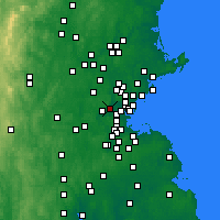 Nearby Forecast Locations - Belmont - Mapa