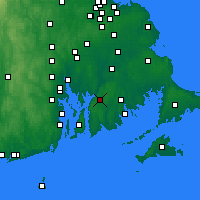 Nearby Forecast Locations - Fall River - Mapa