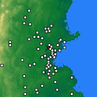 Nearby Forecast Locations - Woburn - Mapa