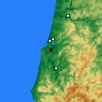 Nearby Forecast Locations - Coos Bay - Mapa