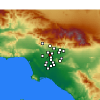 Nearby Forecast Locations - Alhambra - Mapa