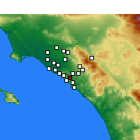 Nearby Forecast Locations - Aliso Viejo - Mapa