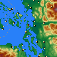 Nearby Forecast Locations - Anacortes - Mapa