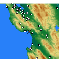 Nearby Forecast Locations - Aptos - Mapa