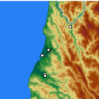 Nearby Forecast Locations - Arcata - Mapa