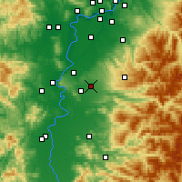 Nearby Forecast Locations - Aumsville - Mapa