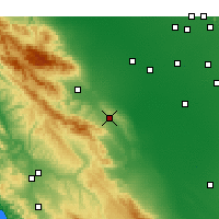 Nearby Forecast Locations - Avenal - Mapa
