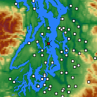 Nearby Forecast Locations - Bainbridge - Mapa