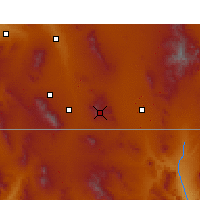 Nearby Forecast Locations - Bisbee - Mapa