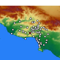 Nearby Forecast Locations - Calabasas - Mapa