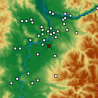 Nearby Forecast Locations - Canby - Mapa