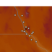 Nearby Forecast Locations - Canutillo - Mapa