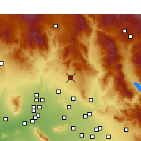 Nearby Forecast Locations - Cave Creek - Mapa