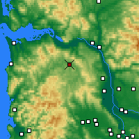 Nearby Forecast Locations - Clatskanie - Mapa