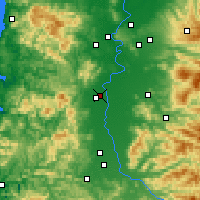 Nearby Forecast Locations - Corvallis - Mapa