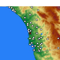 Nearby Forecast Locations - Del Mar - Mapa