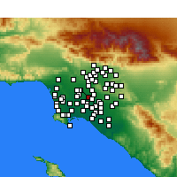 Nearby Forecast Locations - Downey - Mapa