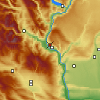 Nearby Forecast Locations - East Wenatchee - Mapa