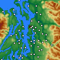 Nearby Forecast Locations - Edmonds - Mapa
