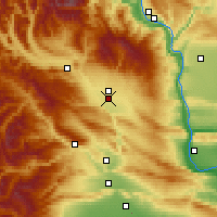 Nearby Forecast Locations - Ellensburg - Mapa